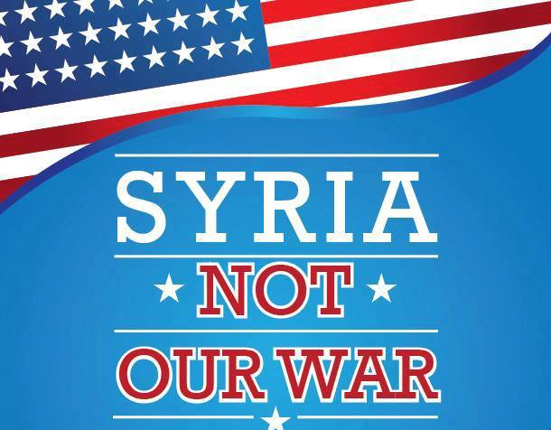 Syria Not Our War Graphic