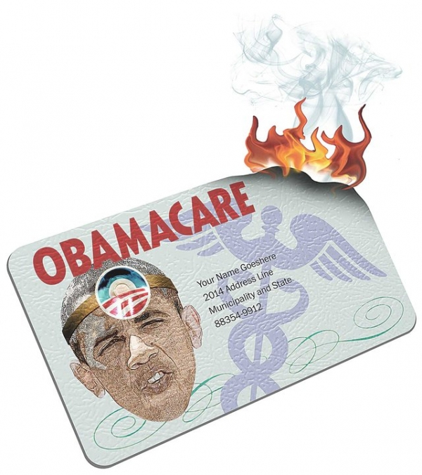 obamacare-card-on-fire