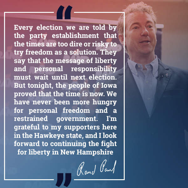 Rand Paul on Campaign - On to NH