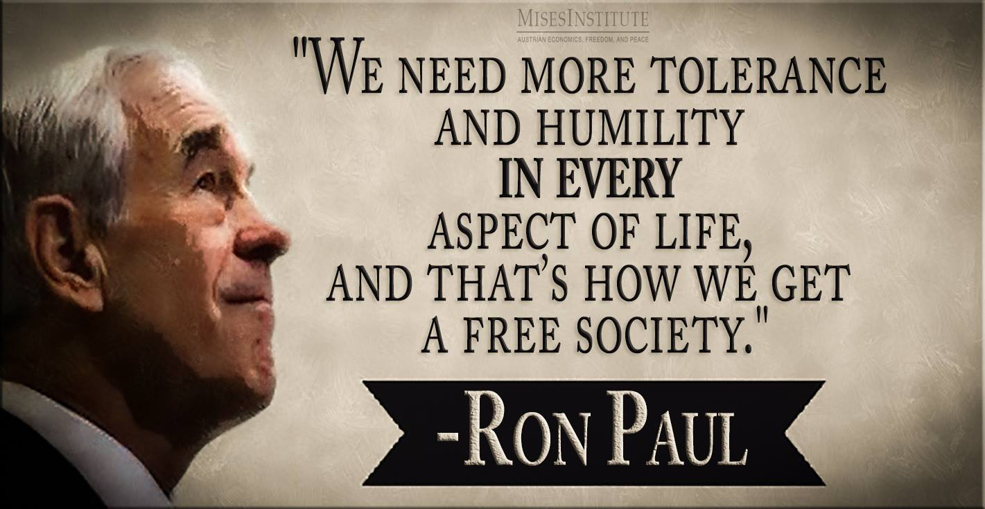 We need more tolerance and humility...